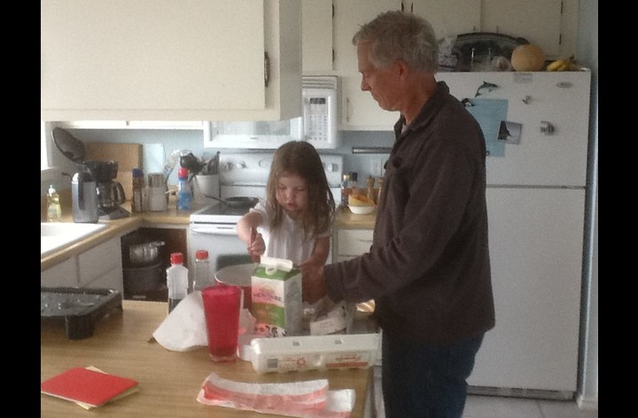 Making Pancakes With Grandpa